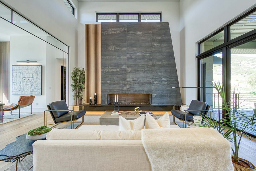 2020 Park City Showcase of Homes, Chatwin Homes, Fireplace, Stone