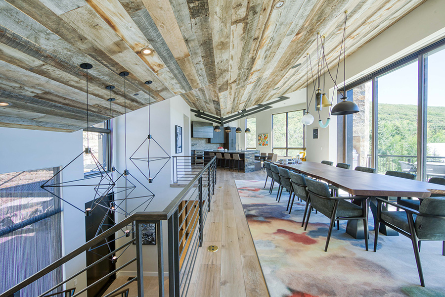 Jaffa Group, Wood ceilings, Dining room, Staircase