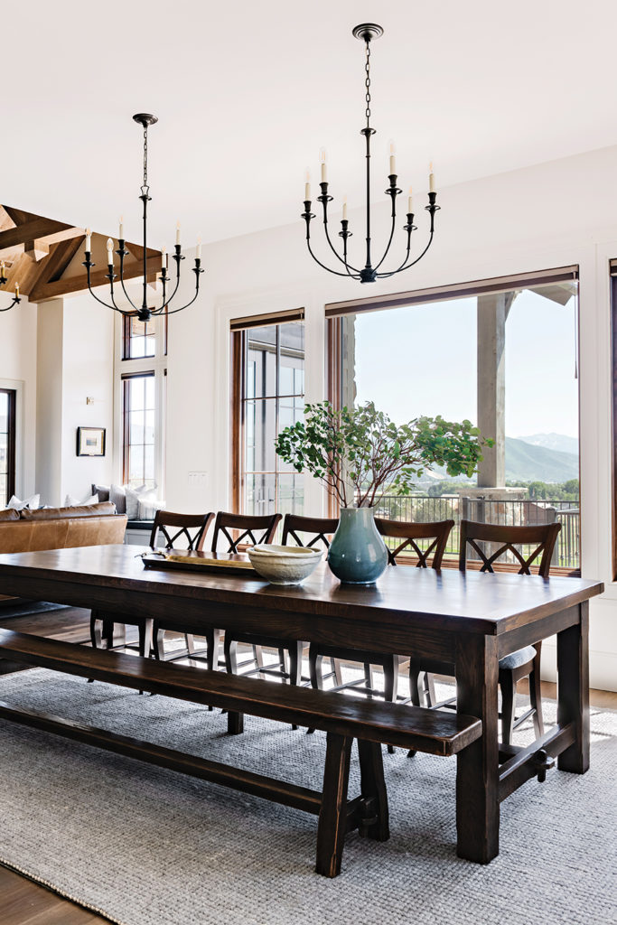 DIning room, Farm table, Anthony's Fine Art and Antiques, Chandeliers