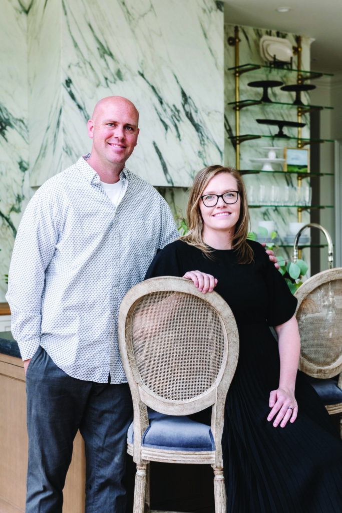 Chad and Rochelle Broadhead, owners of Cambridge Home Company, an interior design-build firm.Photo by Rebekah Westover
