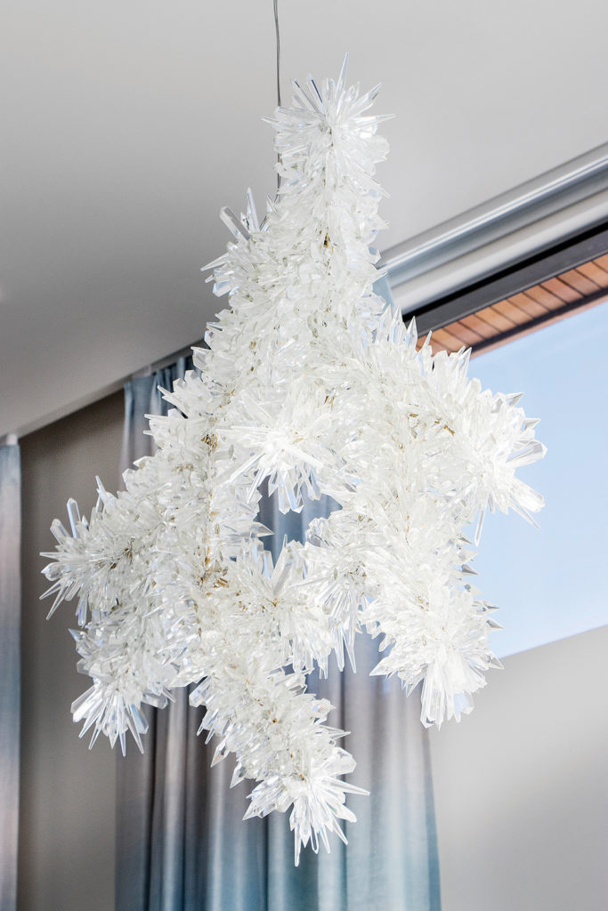 Ice crystal chandelier