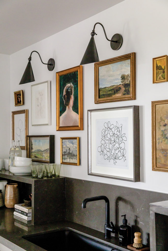 Kitchenette, Sconce, Gallery wall