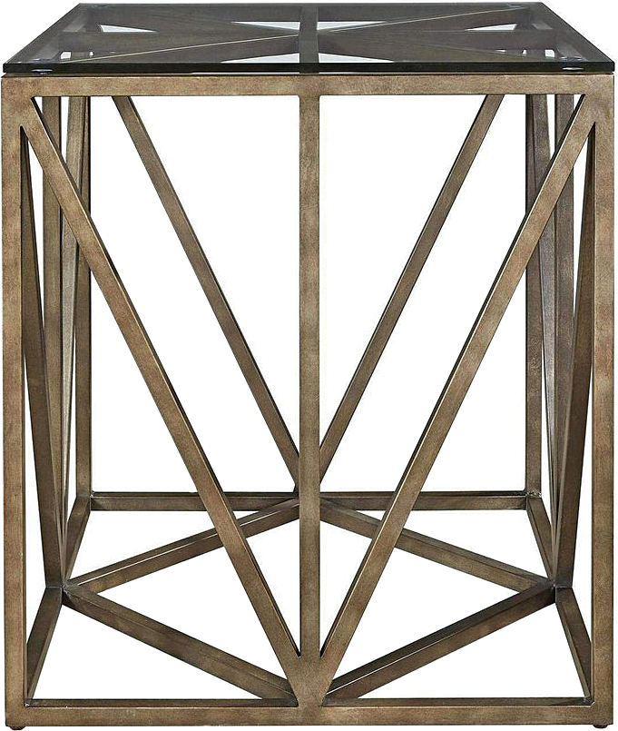 Fractured forms, Truss Square End Table