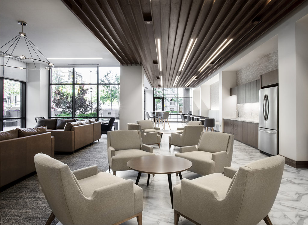 Break room in the World Trade Center at City Creek