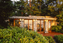 Exterior of Frank Lloyd Wright home on the Puget Sound